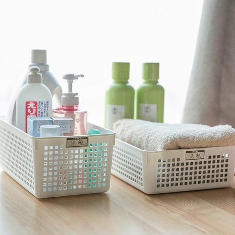 Storage Basket With Label Holders [Made In Japan] Home & kitchen LIFEASE