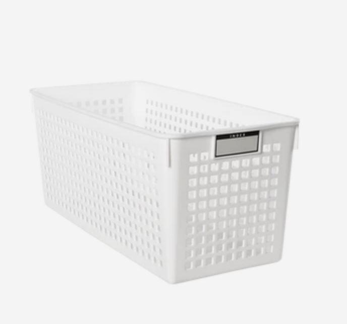 Storage Basket With Label Holders [Made In Japan] Home & kitchen LIFEASE A section 5.2x11.5x4.9 inch