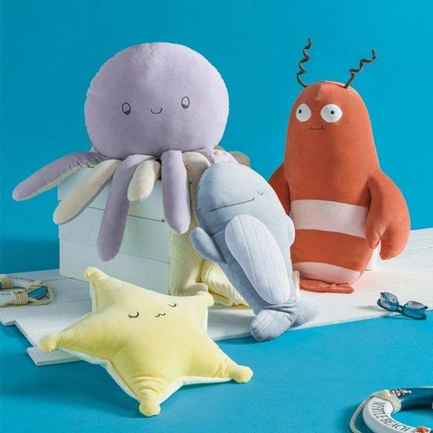 "Stuffed Animal Pillow Cushion Plush Toy (Under the Sea Theme) - Small 20""/Large 28"" Home & kitchen LIFEASE"