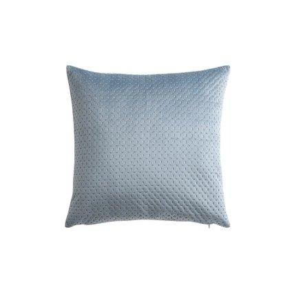 Suede Leather Pillowcase Home & kitchen LIFEASE Blue (pillow only)