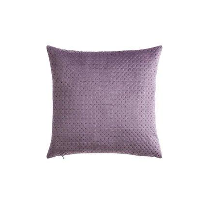 Suede Leather Pillowcase Home & kitchen LIFEASE Purple (pillow only)