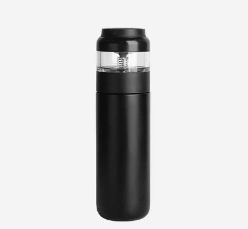 Tea Infuser Stainless Steel Insulated Tea Bottle Home & kitchen LIFEASE 16.9 oz Black