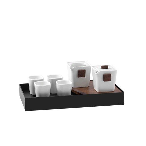 Tea Set with Tea Tray Gift Box Home & kitchen LIFEASE 1 pot, 1 big cup, 4 cups and 1 tea tray