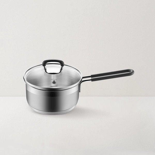 Thickened Bottom Stainless Steel Anti-scalding Pot 2-Qt With Lid Home & kitchen LIFEASE