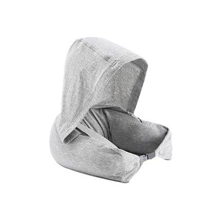Travel Pillow - with Firm Durable Memory Foam Sports & Travel Lifease Light Gray
