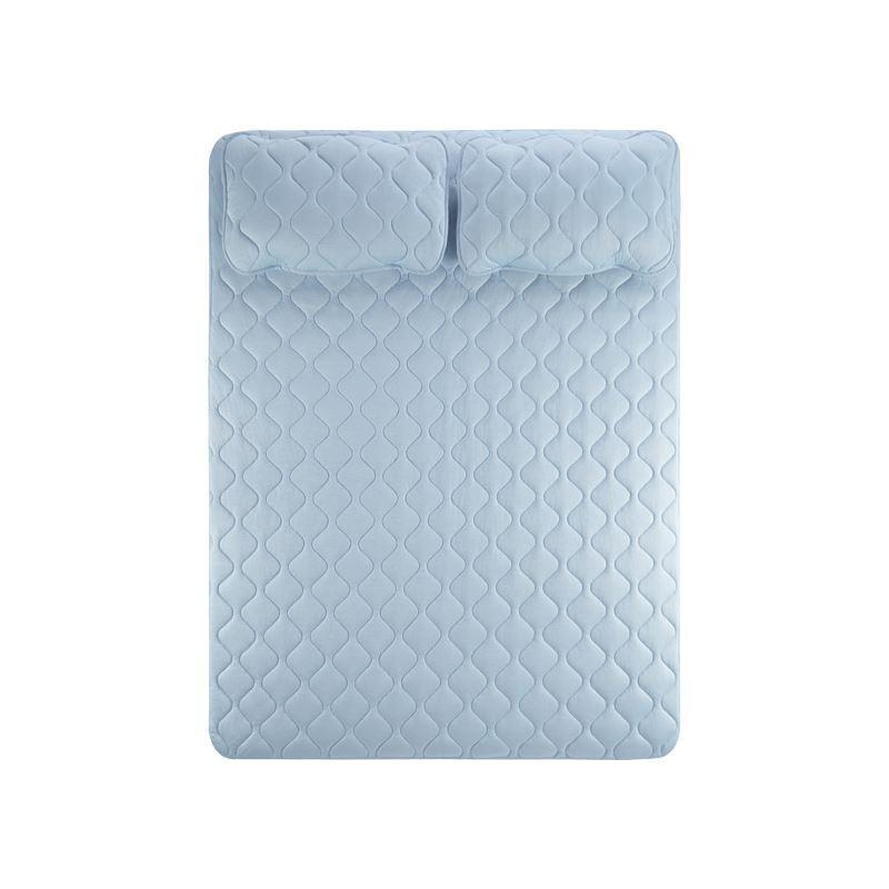 Ultra-cool Feel Bedspread (machine washable) - Twin/Full/Double- Fitted/Flat Home & kitchen LIFEASE Blue Full/Double Fitted sheet