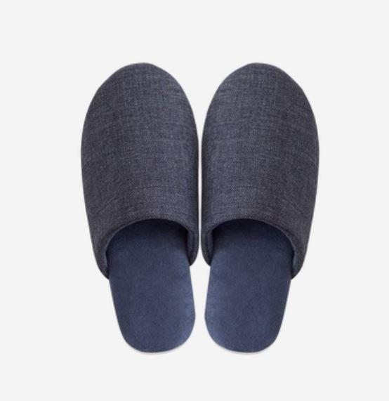 Unisex - Soft Home Slippers with Textile Fabric - Multiple Colors Home & kitchen LIFEASE Dark Blue XL (42-43)