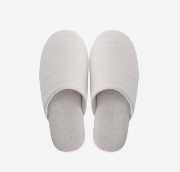 Unisex - Soft Home Slippers with Textile Fabric - Multiple Colors Home & kitchen LIFEASE Grey L (40-41)