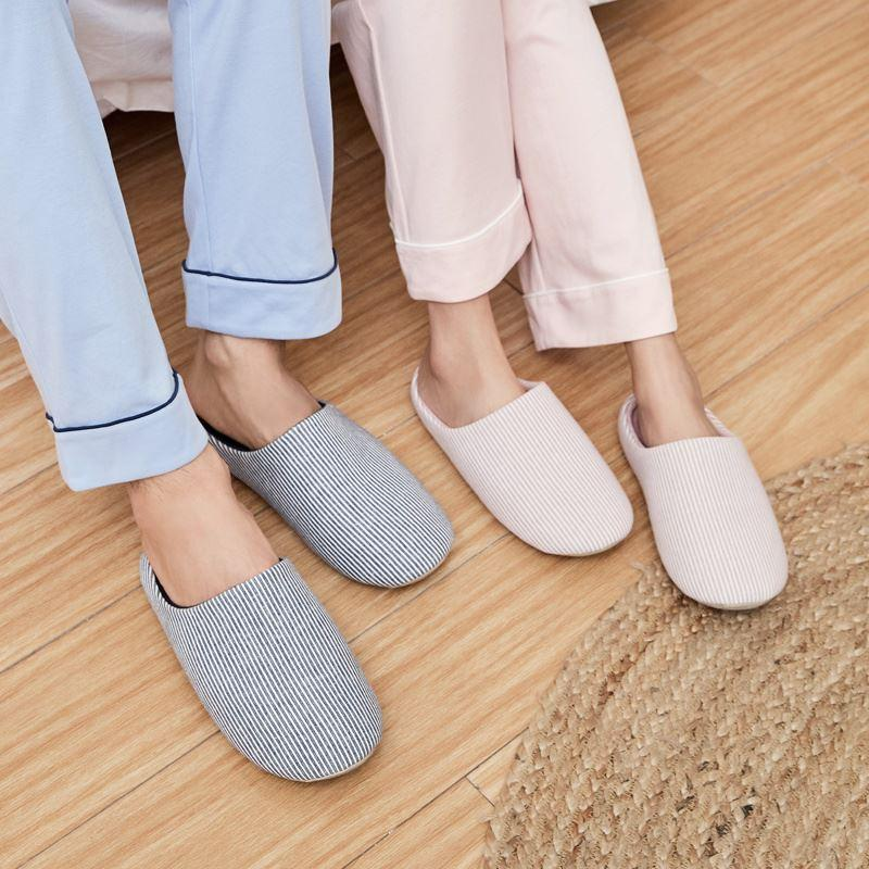Unisex Striped Home Slippers - Japanese Style Home & kitchen LIFEASE