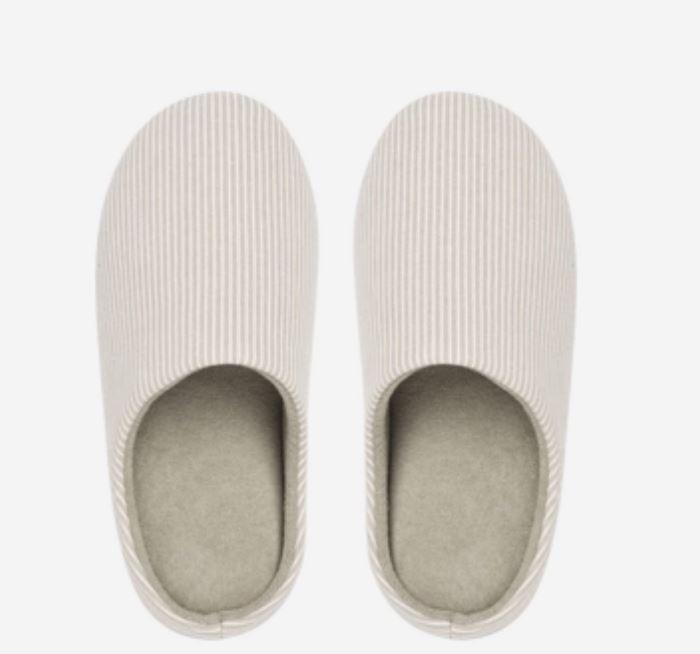 Unisex Striped Home Slippers - Japanese Style Home & kitchen LIFEASE Beige S (36-37)