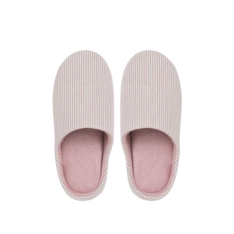Unisex Striped Home Slippers - Japanese Style Home & kitchen LIFEASE Pink S (36-37)