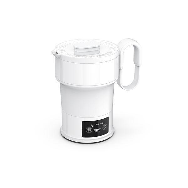 Universal Travel Foldable Electric Kettle 100~240V 0.6L Consumer Electronics LIFEASE White