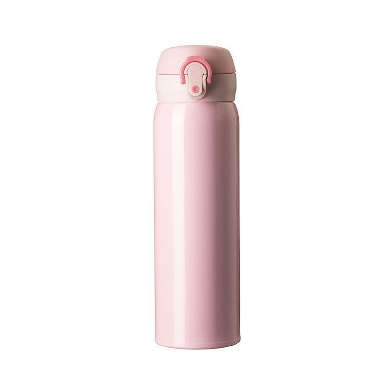 Vacuum Insulated Stainless Steel Water Bottle, 350ml, 500ml Home & kitchen LIFEASE Pink-500ml