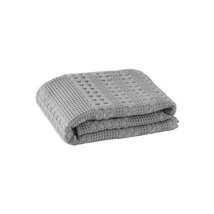 Waffle Pattern Cotton Cover Blanket Home & kitchen LIFEASE Grey 78.7''