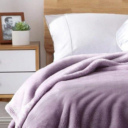 Warn Fleece Solid Color Blanket Home & kitchen LIFEASE