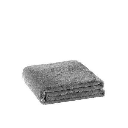 Warn Fleece Solid Color Blanket Home & kitchen LIFEASE Dark Grey (Plush Style) 70.8''x78.7''