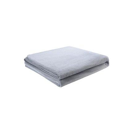 Warn Fleece Solid Color Blanket Home & kitchen LIFEASE Grey 70.8''x78.7''