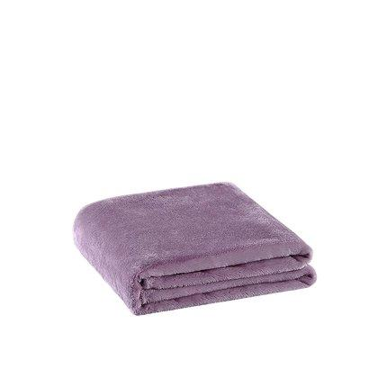 Warn Fleece Solid Color Blanket Home & kitchen LIFEASE Purple (Plush Style) 70.8''x78.7''