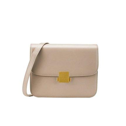 Women's Classic Retro Leather Small Purse Apparel shoe bag LIFEASE Beige