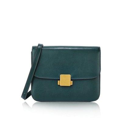 Women's Classic Retro Leather Small Purse Apparel shoe bag LIFEASE Green