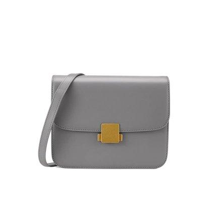 Women's Classic Retro Leather Small Purse Apparel shoe bag LIFEASE Grey
