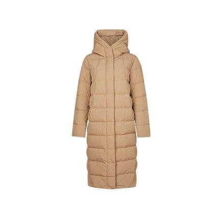 Women's Cocoon Shaped Extra Long Down Jacket Apparel shoe bag LIFEASE Beige S