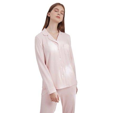 Women's Cotton Knit Pajamas Set Apparel shoe bag LIFEASE