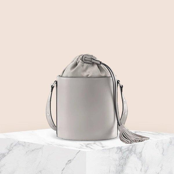 Women's Drawstring Bucket Shoulder Bag Apparel shoe bag LIFEASE