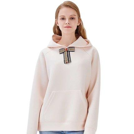 Women's Hoodie Sweater with Detachable Bow Apparel shoe bag LIFEASE