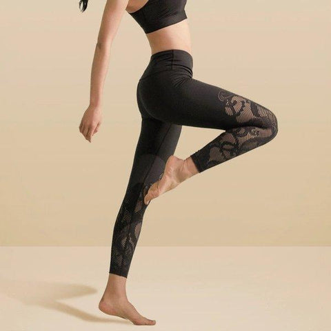 Women's Lightweight Lace Leggings Sports & Travel LIFEASE