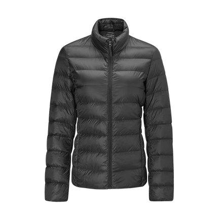 Women's Lightweight Slim-fit Down Jacket Holiday special Lifease Black S No cap
