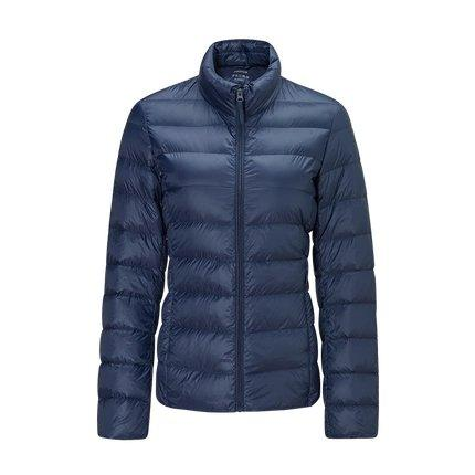 Women's Lightweight Slim-fit Down Jacket Holiday special Lifease Navy S No cap