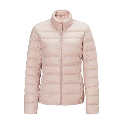 Women's Lightweight Slim-fit Down Jacket Holiday special Lifease Pink M No cap