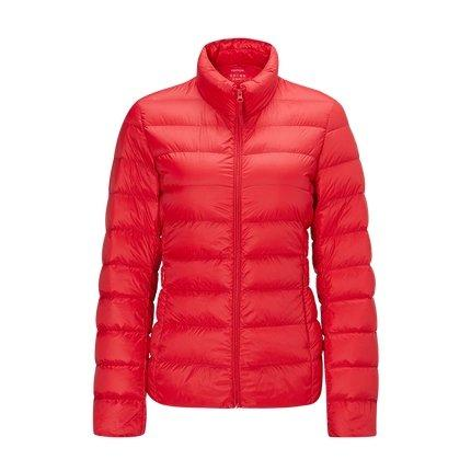 Women's Lightweight Slim-fit Down Jacket Holiday special Lifease Red S No cap