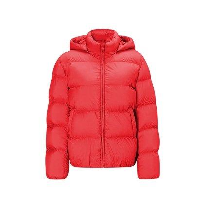Women's Lightweight Thick Down Jacket Apparel shoe bag LIFEASE Red S