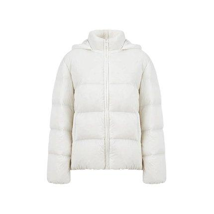 Women's Lightweight Thick Down Jacket Apparel shoe bag LIFEASE White S
