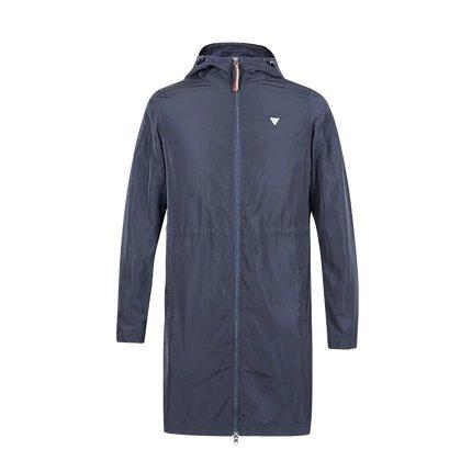Women's Long Sports Windbreaker Jacket Apparel shoe bag LIFEASE Navy S