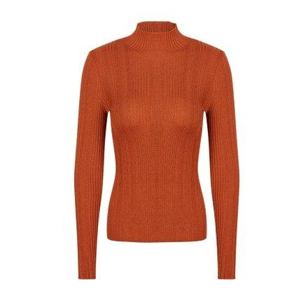 Women's Machine Washable 100% Wool Mock Neck Sweater Apparel shoe bag LIFEASE Caramel S