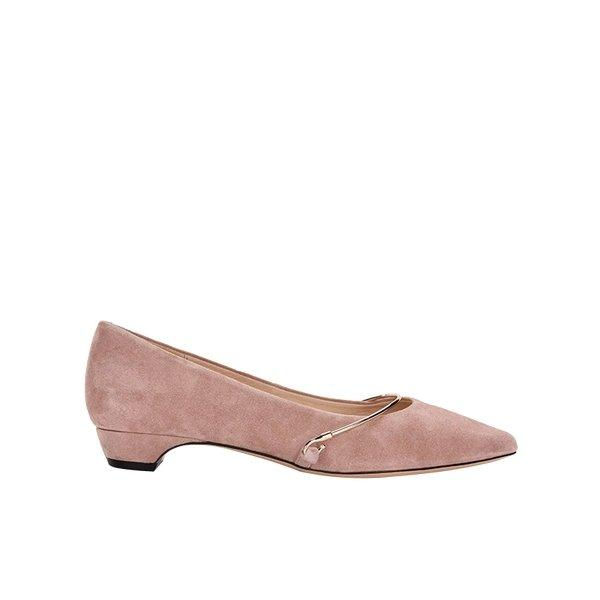 Women's Metal Ring Pointed Toe Flats Apparel shoe bag LIFEASE Pink US 8.5