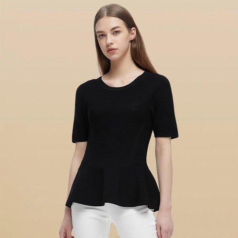 Women's One-piece Seamless A-line Knit Shirts Apparel shoe bag LIFEASE