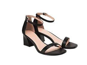 Women's Open Toe Ankle Strap Block Chunky Low Heeled Sandals Apparel shoe bag LIFEASE Black US 9