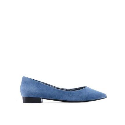 Women's Pointed Toe Flats Apparel shoe bag LIFEASE Blue US 4
