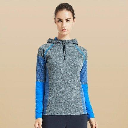 Women's Seamless Long Sleeve Hoodie Sports & Travel LIFEASE