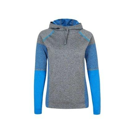 Women's Seamless Long Sleeve Hoodie Sports & Travel LIFEASE Blue/Grey S