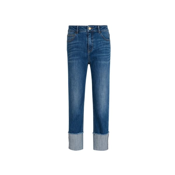 Women's Straight-fitting Cropped Ankle Jeans - Lifease
