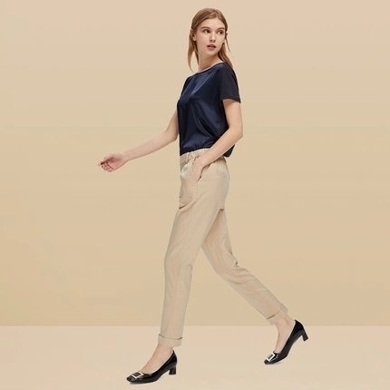 Women's Straight Leg Pants with Pockets - Lifease