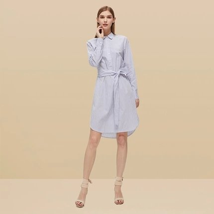 Women's Striped Cotton Dress - Lifease
