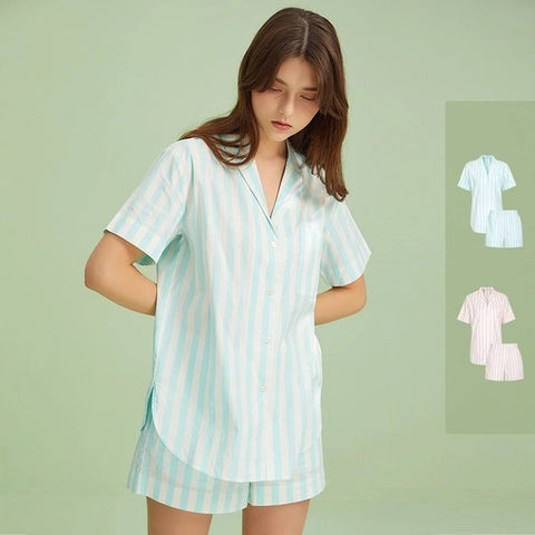 Women's Striped Home Pajamas - Lifease