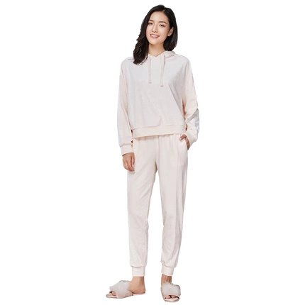 Women's Velvet Sweatsuit Set with Hoodie and Pants - Lifease