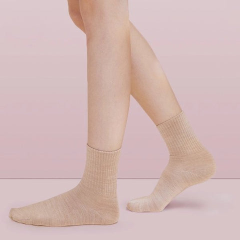 Women's Warm Wool Medium-high Socks (2 pairs) - Lifease